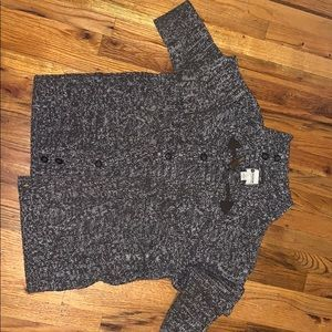 Men's brown cardigan sweater